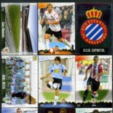 Cromos de Fútbol: 9 FICHAS DIFERENTES DE LA LIGA 2008 09 - COLECCION OFICIAL DE TRADING CARDS DE MUNDI CROMO - LOTE 59. Lote 55899225