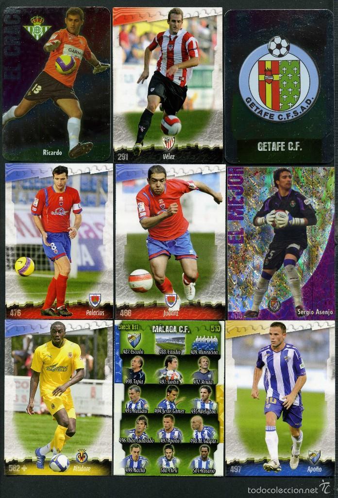 9 FICHAS DIFERENTES DE LA LIGA 2008 09 - COLECCION OFICIAL DE TRADING CARDS DE MUNDI CROMO - LOTE 62 (Coleccionismo Deportivo - Álbumes y Cromos de Deportes - Cromos de Fútbol)