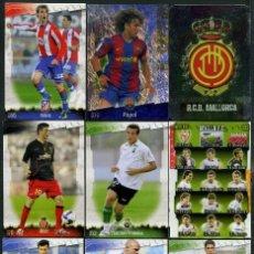 Cromos de Fútbol: 9 FICHAS DIFERENTES DE LA LIGA 2008 09 - COLECCION OFICIAL DE TRADING CARDS DE MUNDI CROMO - LOTE 63. Lote 55900872