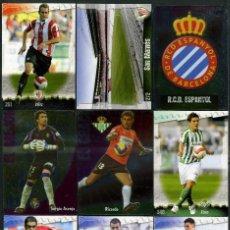 Cromos de Fútbol: 9 FICHAS DIFERENTES DE LA LIGA 2008 09 - COLECCION OFICIAL DE TRADING CARDS DE MUNDI CROMO - LOTE 65. Lote 55901568