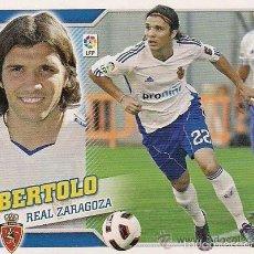 Cromos de Fútbol: NOU ESTE 10 11 2010 2011 BERTOLO ZARAGOZA U F 37 NUNCA PEGADO. Lote 90971923