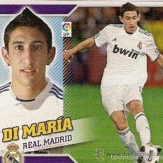 Cromos de Fútbol: NOU ESTE 10 11 2010 2011 DI MARIA REAL MADRID U F 22 NUNCA PEGADO. Lote 90972062