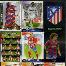 Cromos de Fútbol: 9 FICHAS DIFERENTES DE LA LIGA 2008 09 - COLECCION OFICIAL DE TRADING CARDS DE MUNDI CROMO - LOTE 68. Lote 55904489