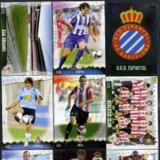 Cromos de Fútbol: 9 FICHAS DIFERENTES DE LA LIGA 2008 09 - COLECCION OFICIAL DE TRADING CARDS DE MUNDI CROMO - LOTE 72. Lote 55905730