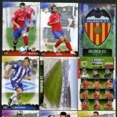 Cromos de Fútbol: 9 FICHAS DIFERENTES DE LA LIGA 2008 09 - COLECCION OFICIAL DE TRADING CARDS DE MUNDI CROMO - LOTE 74. Lote 55906420