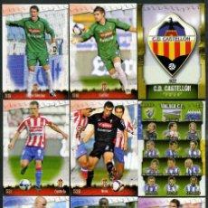 Cromos de Fútbol: 9 FICHAS DIFERENTES DE LA LIGA 2008 09 - COLECCION OFICIAL DE TRADING CARDS DE MUNDI CROMO - LOTE 75. Lote 55906839