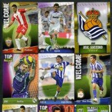 Cromos de Fútbol: 9 FICHAS DIFERENTES DE LA LIGA 2008 09 - COLECCION OFICIAL DE TRADING CARDS DE MUNDI CROMO - LOTE 79. Lote 55909929