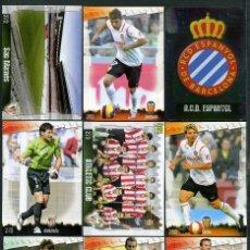 Cromos de Fútbol: 9 FICHAS DIFERENTES DE LA LIGA 2008 09 - COLECCION OFICIAL DE TRADING CARDS DE MUNDI CROMO - LOTE 87. Lote 55916181