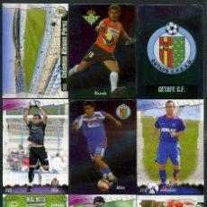 Cromos de Fútbol: 9 FICHAS DIFERENTES DE LA LIGA 2008 09 - COLECCION OFICIAL DE TRADING CARDS DE MUNDI CROMO - LOTE 89. Lote 55916249