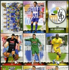 Cromos de Fútbol: 9 FICHAS DIFERENTES DE LA LIGA 2008 09 - COLECCION OFICIAL DE TRADING CARDS DE MUNDI CROMO - LOTE 94. Lote 55916352