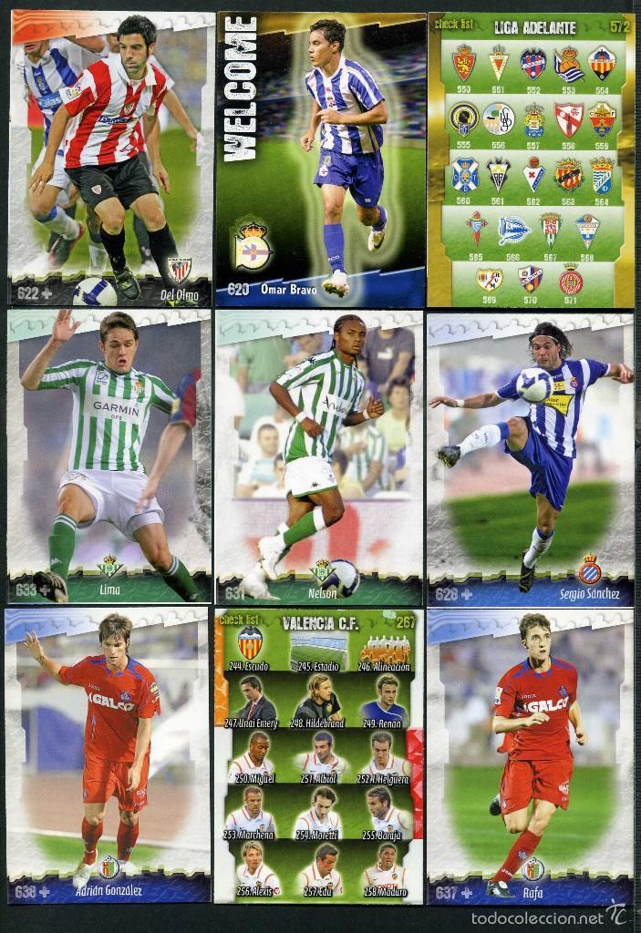 9 FICHAS DIFERENTES DE LA LIGA 2008 09 - COLECCION OFICIAL DE TRADING CARDS DE MUNDI CROMO - LOTE 99 (Coleccionismo Deportivo - Álbumes y Cromos de Deportes - Cromos de Fútbol)