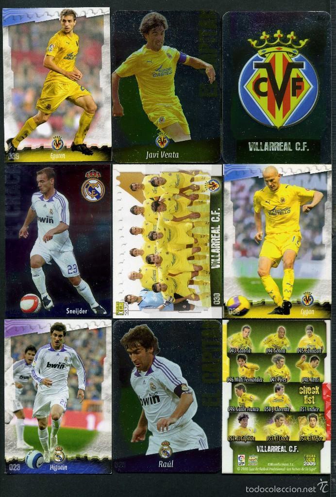 9 FICHAS DIFERENTES DE LA LIGA 2008 09 - COLECCION OFICIAL DE TRADING CARDS DE MUNDI CROMO -LOTE 103 (Coleccionismo Deportivo - Álbumes y Cromos de Deportes - Cromos de Fútbol)