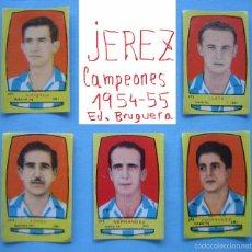 Cromos de Fútbol: FUTBOL CAMPEONES 1954 1955 / 54 55 BRUGUERA - JEREZ - CROMOS A 3 EUROS LA UNIDAD NUNCA PEGADOS. Lote 55864964