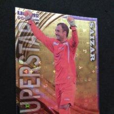 Cromos de Fútbol: 1172 SAIZAR - SUPERSTAR BRILLO LETRAS - GUADALAJARA - MUNDICROMO MC - FICHAS QUIZ LIGA 2012 12. Lote 56137033