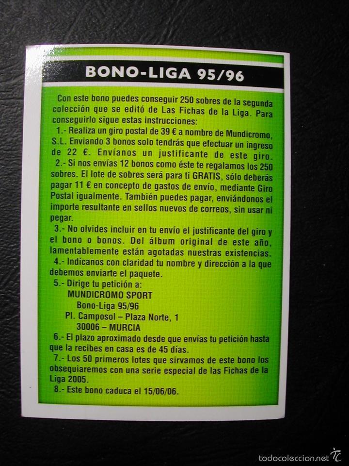 COMODIN 2006. BONO-LIGA 95/96 LIGA 2005 2006 05 / 06 MUNDICROMO FICHAS LIGA (Coleccionismo Deportivo - Álbumes y Cromos de Deportes - Cromos de Fútbol)