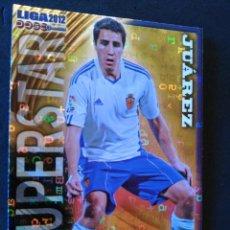 Cromos de Fútbol: 350 JUAREZ - SUPERSTAR BRILLO LETRAS - ZARAGOZA - MUNDICROMO MC - FICHAS QUIZ LIGA 2012 12. Lote 56313369