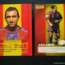 Cromos de Fútbol: COPIA DE CROMOS PANINI FUTBOL CLUB FC BARCELONA F.C BARÇA CF ABELARDO. Lote 56314682