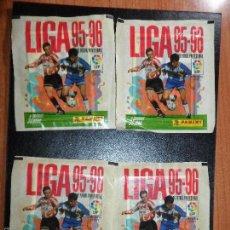 Cromos de Fútbol: 4 SOBRES SOBRE SIN ABRIR LIGA 95 96 1995 1996 PANINI. Lote 56487069