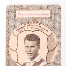 Cromos de Fútbol: CARTA DE NAIPE - SAMITIER DELANTERO CENTRO DEL F.C.BARCELONA. Lote 56493554