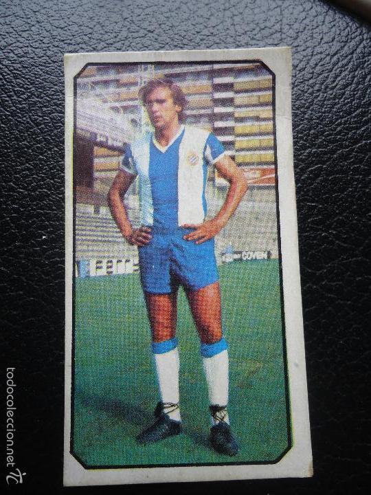 XX ESTE 77 78 1977 1978 FLORES ESPANYOL ESPAÑOL U F 18 DESPEGADO (Coleccionismo Deportivo - Álbumes y Cromos de Deportes - Cromos de Fútbol)
