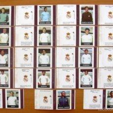 Cromos de Fútbol: REAL MADRID 19 CAJAS DE CERILLAS EN PLANCHA - FÓSFOROS DEL PIRINEO AÑOS 70. Lote 56774265