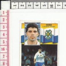 Cromos de Fútbol: 13.532 CROMO FUTBOL, SIN PEGAR, LIGA 1990/1991, 90-91, ISIDRO, TENERIFE, EDICIONES ESTE. Lote 56826099