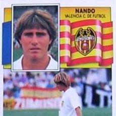 Cromos de Fútbol: EDICIONES ESTE 90 91 VALENCIA - NANDO ( RECUPERADO ). Lote 56830999