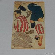 Cromos de Fútbol: CROMO ATHLETIC BILBAO , GERMAN - CAMPEONATO DE ESPAÑA 1923 - 24 , CHOCOLATE AMATLLER, SEÑALES DE USO. Lote 56940291
