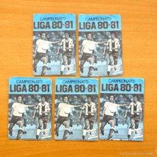 Cromos de Fútbol: 5 SOBRES VACIOS SIN CROMOS - CAMPEONATO, LIGA 1980-1981, 80-81 - EDICIONES ESTE. Lote 56943565