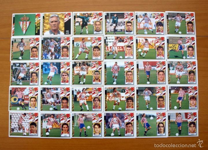 SPORTING DE GIJÓN -ESTE 1997-1998, 97-98 -COMPLETO 30 CROMOS, TODOS LOS PUBLICADOS, NUNCA PEGADOS (Coleccionismo Deportivo - Álbumes y Cromos de Deportes - Cromos de Fútbol)