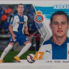 Cromos de Fútbol: LIGA ESTE 2015 - 2016. 13 ABRAHAM (RCD ESPANYOL). CORREGIDO. Lote 57078093