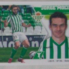 Cromos de Fútbol: LIGA ESTE 2015 - 2016. 19 JORGE MOLINA (REAL BETIS). Lote 57078571
