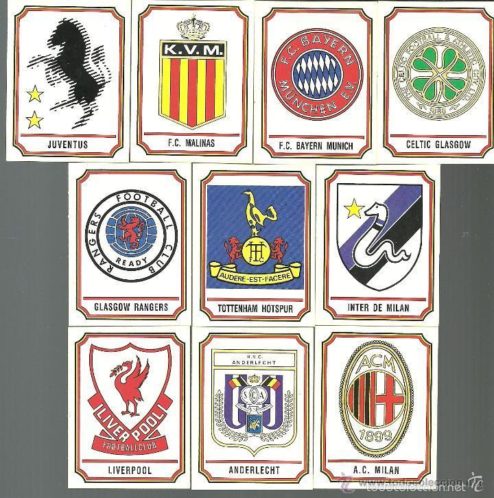 10 cromos de escudos de equipos europeos  albu  Comprar Cromos