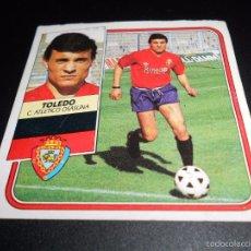Cromos de Fútbol: TOLEDO OSASUNA CROMOS ALBUM EDICIONES ESTE LIGA FUTBOL 1989 1990 89 90. Lote 57254007