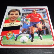Cromos de Fútbol: SOLA OSASUNA CROMOS ALBUM EDICIONES ESTE LIGA FUTBOL 1989 1990 89 90. Lote 57256245