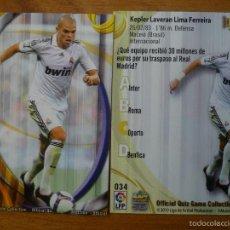 Cromos de Fútbol: MUNDICROMO 2011 Nº 34 PEPE (REAL MADRID) CORREGIDO KEPLER - LIGA 10 11. Lote 57262206
