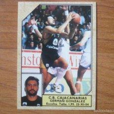Cromos de Fútbol: CROMO CONVERSE BALONCESTO 1988 89 Nº 44 GERMAN GONZALEZ (CAJACANARIAS) - BASKET 1988 89. Lote 210224412