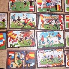 Cromos de Fútbol: 14 ANTIGUOS CROMOS CROMO PARTIDOS FUTBOL INTERNACIONALES . CHOCOLATES TUPINAMBA AÑOS 50. Lote 57408591