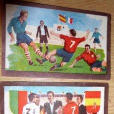 Cromos de Fútbol: ANTIGUOS CROMOS CROMO PARTIDOS FUTBOL INTERNACIONALES . CHOCOLATES TUPINAMBA AÑOS 50 . Lote 57408630