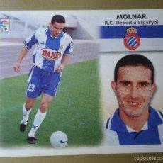 Cromos de Fútbol: LTG ESTE 99 00 1999 2000 MOLNAR U F 5 ESPAÑOL ESPANYOL NUNCA PEGADO. Lote 57511437