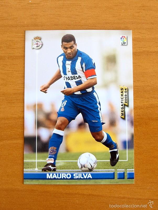 DEPORTIVO DE LA CORUÑA - Nº 118 MAURO SILVA - MEGA FICHAS, MEGAFICHAS 2003-2004, 03-04 - PANINI (Coleccionismo Deportivo - Álbumes y Cromos de Deportes - Cromos de Fútbol)