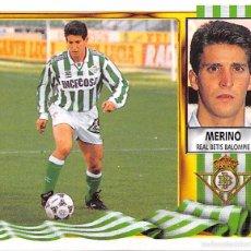 Figurine di Calcio: EDICIONES ESTE 95/96 1995/1996 - MERINO (REAL BETIS) NUNCA PEGADO. Lote 57797147