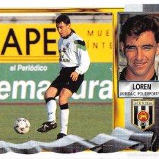 Figurine di Calcio: EDICIONES ESTE 95/96 1995/1996 - LOREN (MERIDA C.P.) NUNCA PEGADO. Lote 57802547