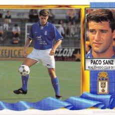 Figurine di Calcio: EDICIONES ESTE 95/96 1995/1996 - COLOCA PACO SANZ (REAL OVIEDO) NUNCA PEGADO. Lote 57804984