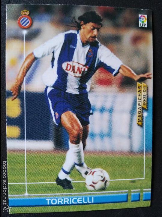 65 TORRICELLI - R.C.D. ESPANYOL - MEGAFICHAS 2003 2004 03 04 - PANINI - VERSION JAPONESA (Coleccionismo Deportivo - Álbumes y Cromos de Deportes - Cromos de Fútbol)