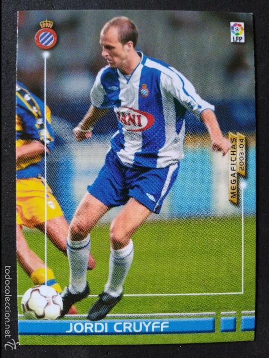 71 JORDI CRUYFF - R.C.D. ESPANYOL - MEGAFICHAS 2003 2004 03 04 - PANINI - VERSION JAPONESA (Coleccionismo Deportivo - Álbumes y Cromos de Deportes - Cromos de Fútbol)
