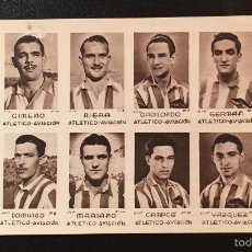Cromos de Fútbol: 12 CROMOS FUTBOL EN UNA PLANCHA - ATLETICO AVIACION - MADRID - AÑOS 40 - NUNCA PEGADOS [03]. Lote 57846357