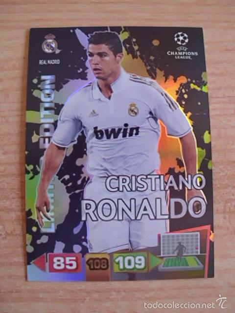 Usado, Adrenalyn UEFA Champions League 2011-2012 (11-12) Cristiano Ronaldo (Real Madrid) Limited edition segunda mano