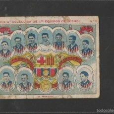 Cromos de Fútbol: FUTBOL-CROMO PRIMEROS EQUIPOS DE FUTBOL-F.C. BARCELONA-ZAMORA ALCANTARA SAMITIER-AÑO 1922-(V-17.975). Lote 58383054
