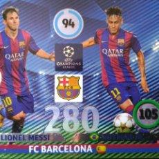 Cromos de Fútbol: 352 MESSI NEYMAR - F.C. BARCELONA - DOUBLE TROUBLE - PANINI ADRENALYN CHAMPIONS 2014 2015 14 15. Lote 58096981